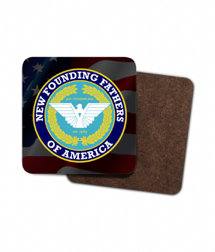New Founding Fathers of America Visual Analytics Single Hardboard Coaster  from The Purge